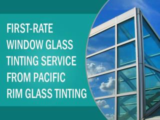 Window tinting in Hawaii from Pacific Rim Glass Tinting