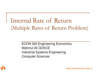 Internal Rate of Return (Multiple Rates of Return Problem)