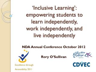 NDA Annual Conference October 2012 Rory O'Sullivan