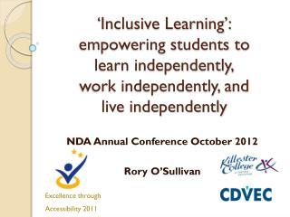 NDA Annual Conference October 2012 Rory O�Sullivan