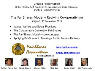 Values, Identity and Social Practices The Co-operative Context for FairShares