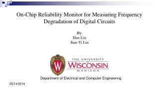 On-Chip Reliability Monitor for Measuring Frequency Degradation of Digital Circuits