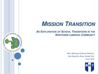 Mission Transition An Exploration of School Transitions in the Northside Limerick Community