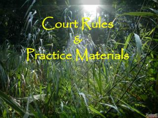 Court Rules  & Practice Materials