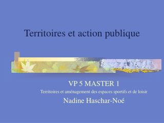 Territoires et action publique
