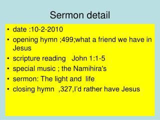 Sermon detail