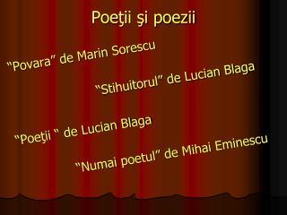 Poe ţii şi poezii