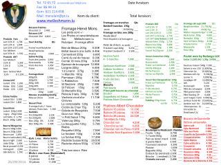 Produits   frais             Qts Lait 3,5% 1l    1,70€    ___ Lait 1,5% 1l    1,60€    ___