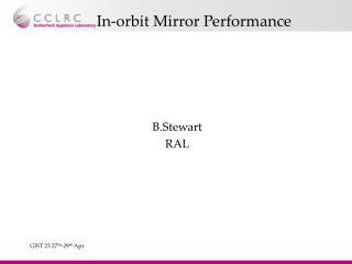 In-orbit Mirror Performance