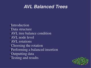 AVL Balanced Trees