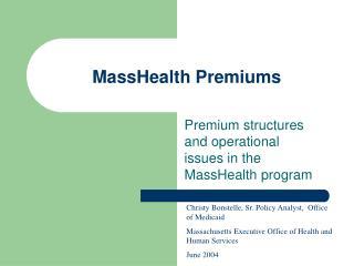 MassHealth Premiums
