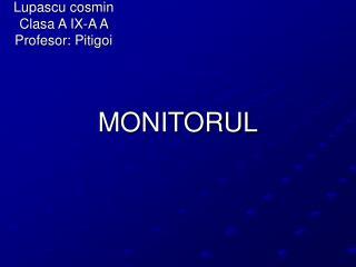 MONITORUL