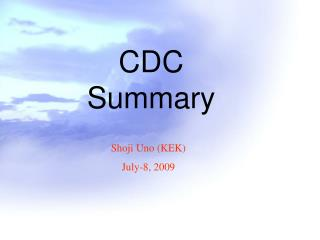 CDC Summary