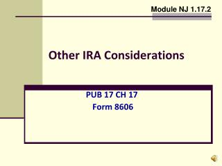 Other IRA Considerations