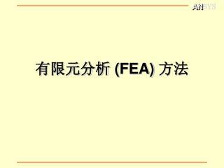 有限元分析  ( FEA)  方法
