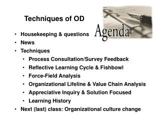Techniques of OD