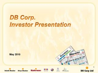 DB Corp. Investor Presentation