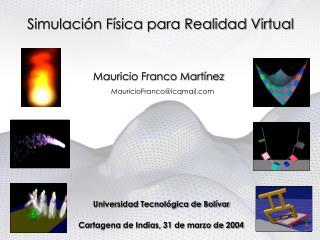 Simulación Física para Realidad Virtual