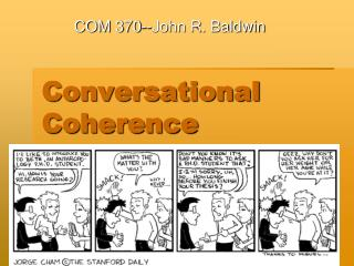 Conversational Coherence