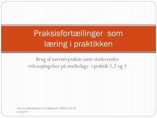 Praksisfortællinger  som  læring i praktikken