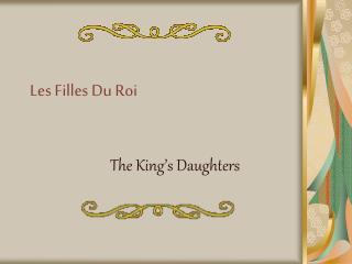 Les Filles Du Roi