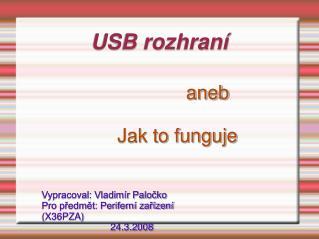 USB rozhraní