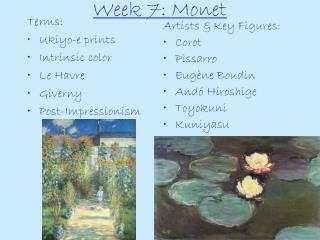Week 7: Monet