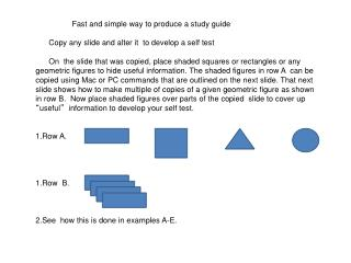 Fast and simple way to produce a study guide