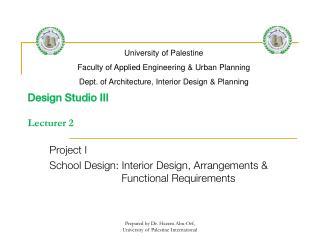 Design Studio III  Lecturer 2
