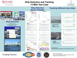 Ship Detection and Tracking 13 MHz Test Case