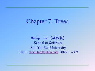 Chapter 7. Trees