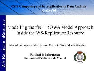 Modelling the √N + ROWA Model Approach Inside the WS-ReplicationResource