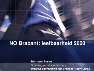 NO Brabant: leefbaarheid 2020