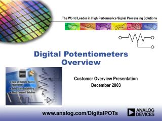 Digital Potentiometers Overview