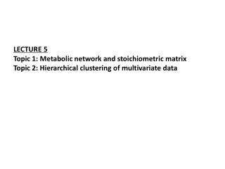 Typical network of metabolic pathways