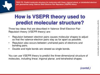 How is VSEPR theory used to predict molecular structure?