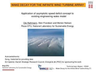 Wake Decay for the Infinite Wind Turbine Array