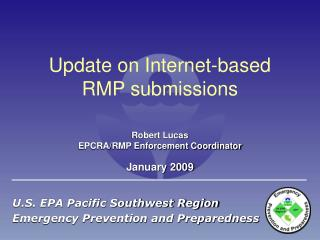 Update on Internet-based RMP submissions