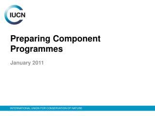 Preparing Component Programmes