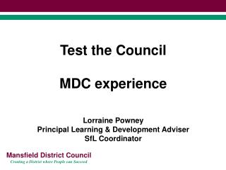What is Test the Council?