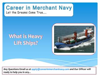 how to join heavy lift ships in merchant navy