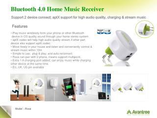 Bluetooth 4.0 Home Music Receiver