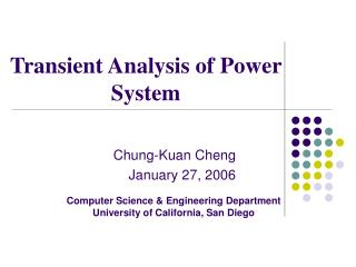 Transient Analysis of Power System