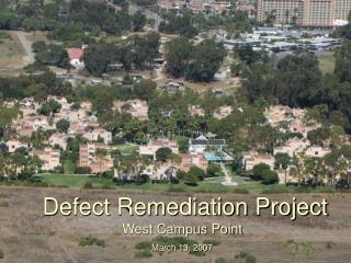 Defect Remediation Project