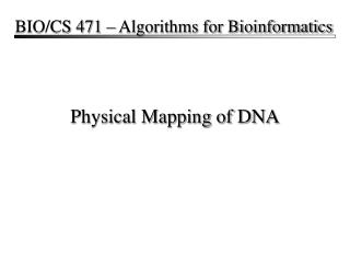 Physical Mapping of DNA