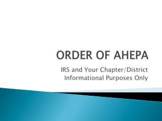ORDER OF AHEPA