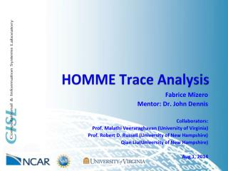 HOMME Trace Analysis