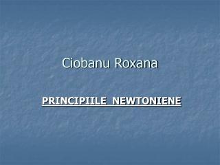 Ciobanu Roxana
