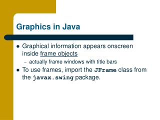 Graphics in Java