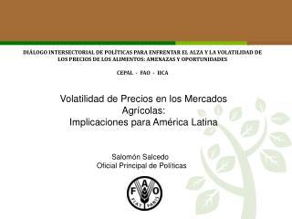 Volatilidad de Precios en los Mercados Agrícolas:  Implicaciones para América Latina
